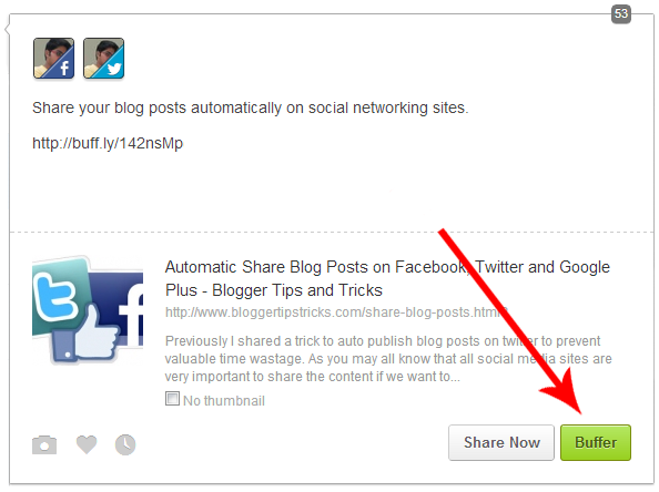 Promote Posts with Buffer