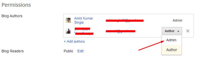Blog Admin Author