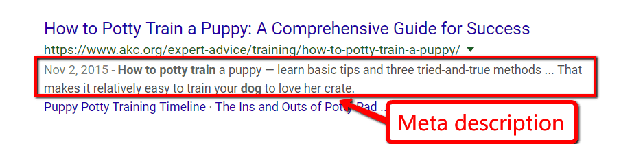 good meta description example