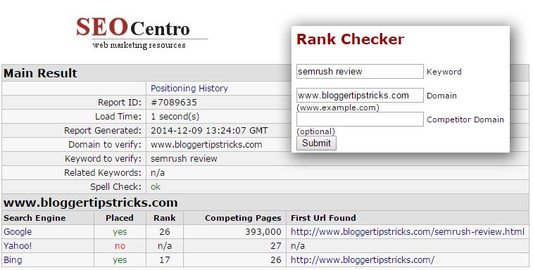 SEO centro rank checker