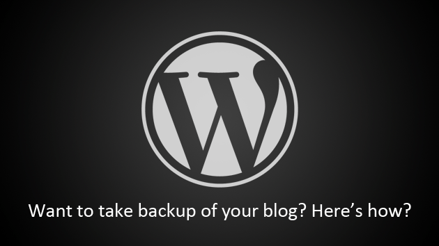 backup wordpress blog