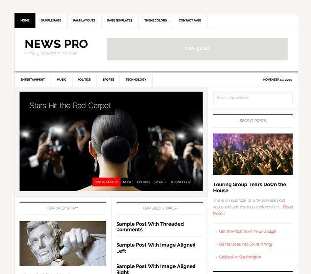 genesis news pro theme