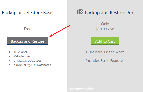 backup and restore basic