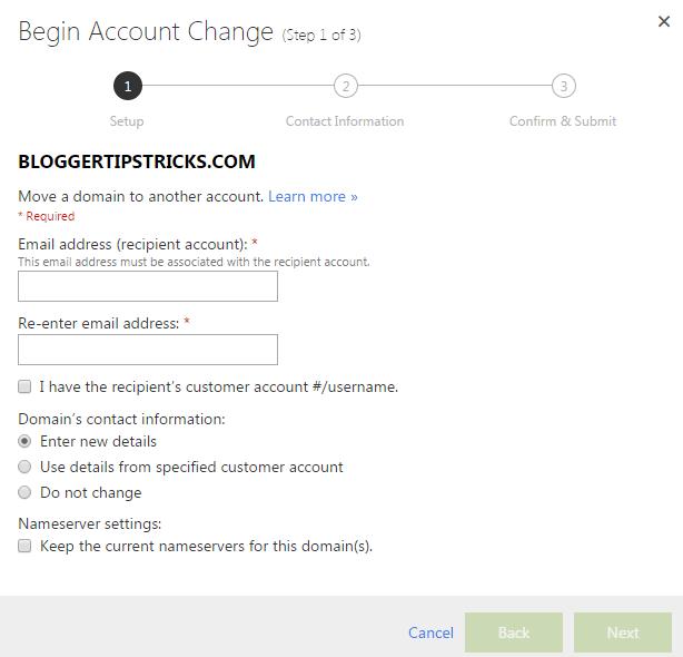 begin account change
