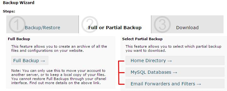 hostgator penuh atau parsial cadangan