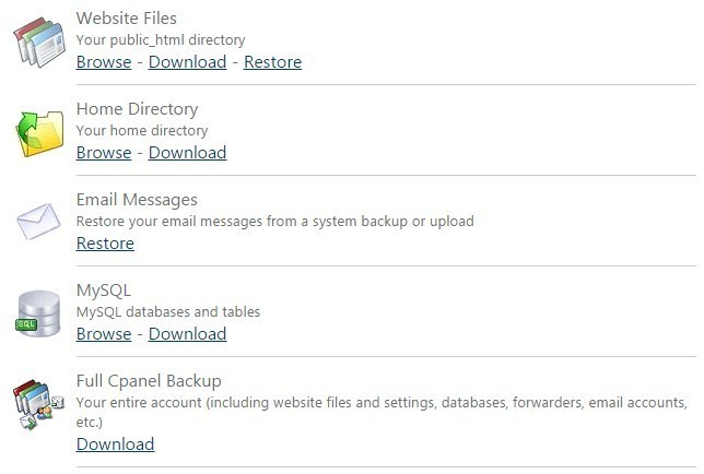 how to backup wordpress site manually