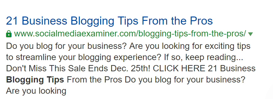 Blogging Tips social media examiner