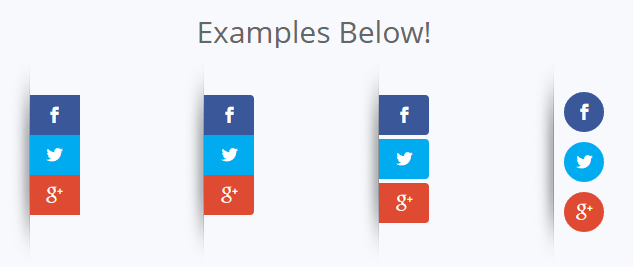 floating social share buttons