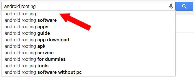 google search generic keywords