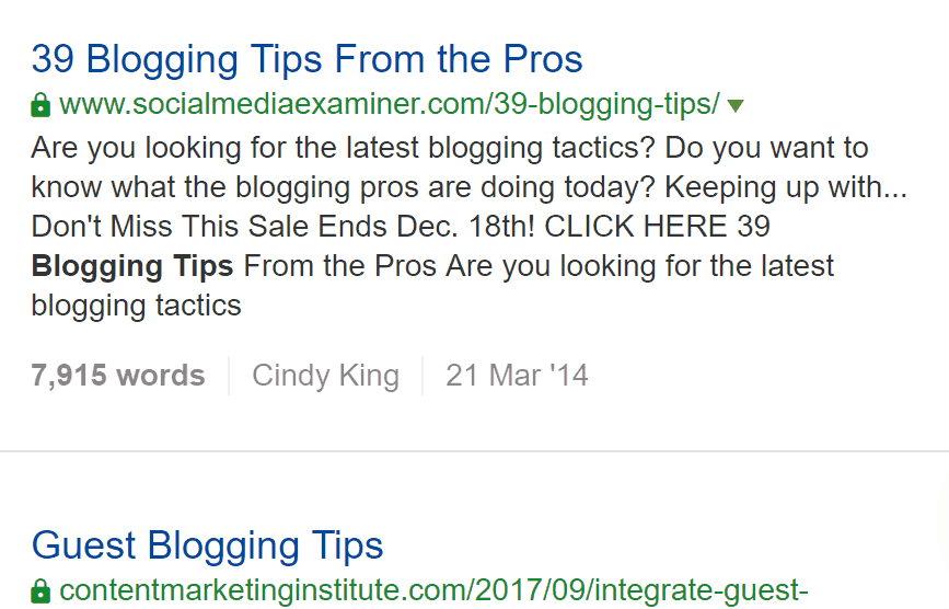 most popular Blogging tips 2