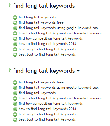 ubersuggest long tail keywords