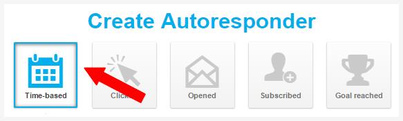 choose autoresponder event