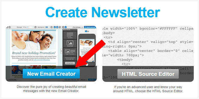 Getresponse email creator