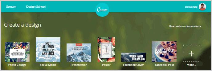 Canva photo design tool