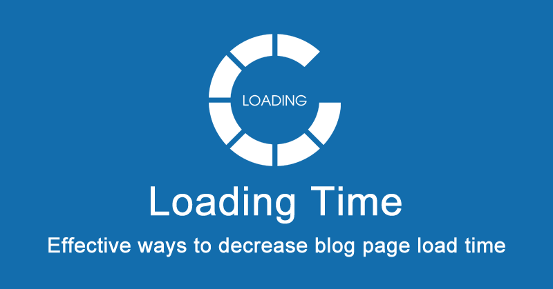decrease blog load time
