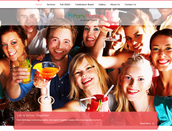 PartyPlanner WordPress Theme