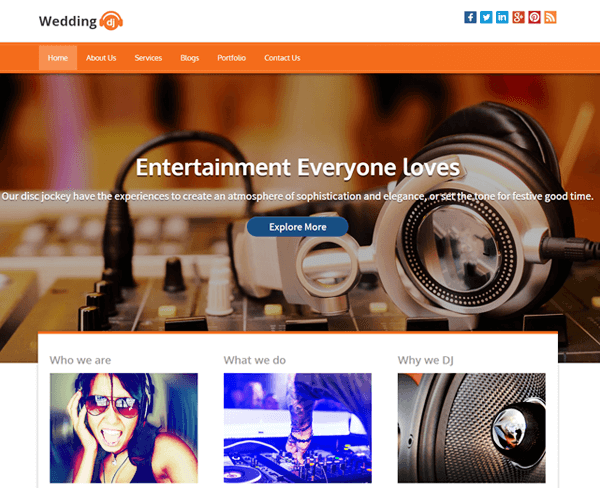 Wedding DJ WordPress Theme