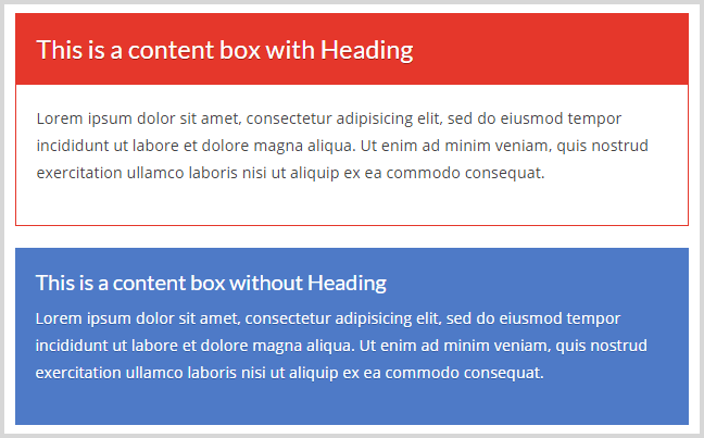 Content boxes in TCB