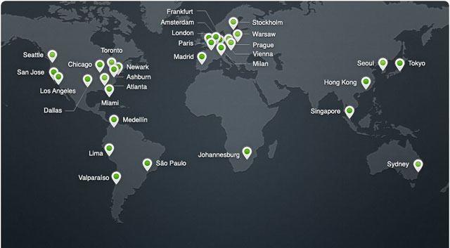 Cloudflare Ağ Haritası