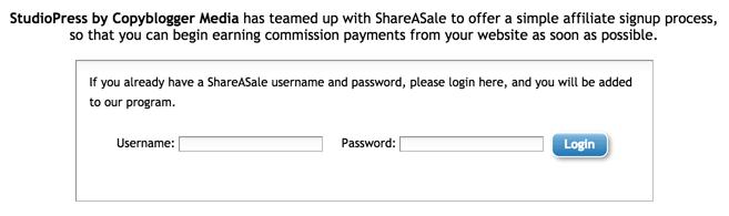 Join StudioPress Affiliate Program on ShareASale