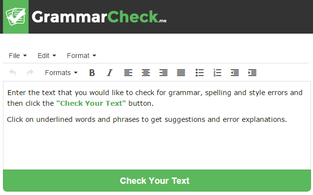 grammar and spelling checker for essays Enter the text that you want to check for grammar, spelling, and punctuation mistakes then click the grey button below click on underlined words to get a list of.
