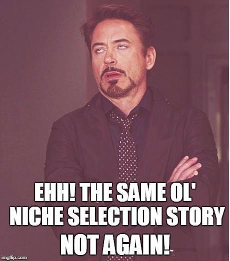 Niche Selection process meme