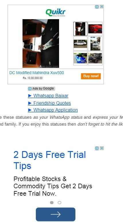 Bad example of Adsense ad placement.