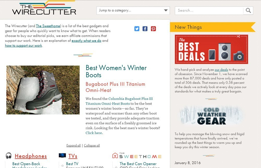 thewirecutter.com full homepage