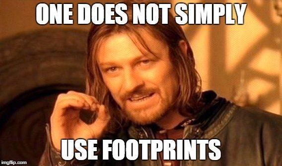 use footprints meme