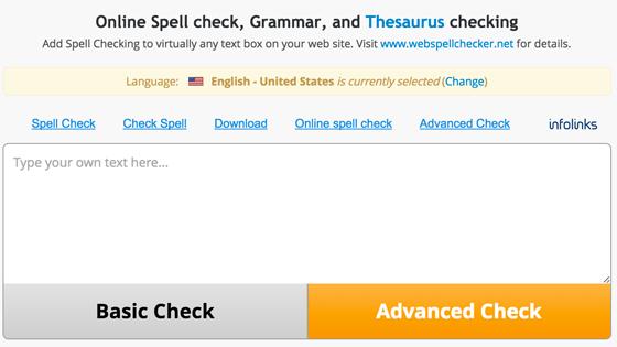 SpellChecker Online Tool