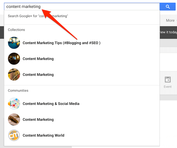 Find communities on Google Plus