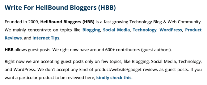 HellBound Bloggers Write For Us Page