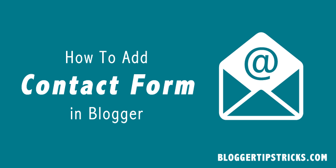 Blogger Contact Form Page