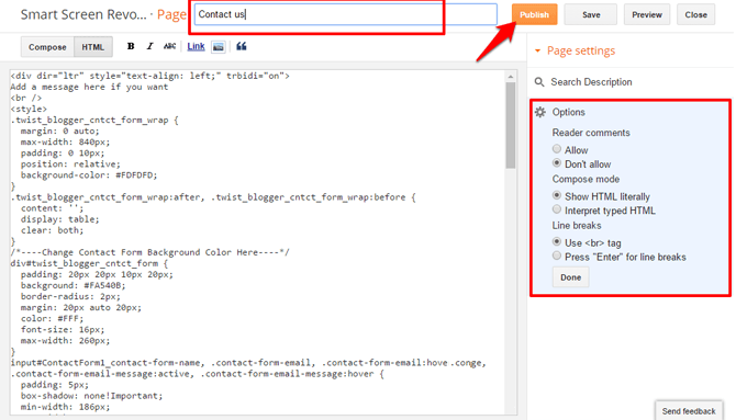 How To Add Contact Form (Contact Us Page) in Blogger?