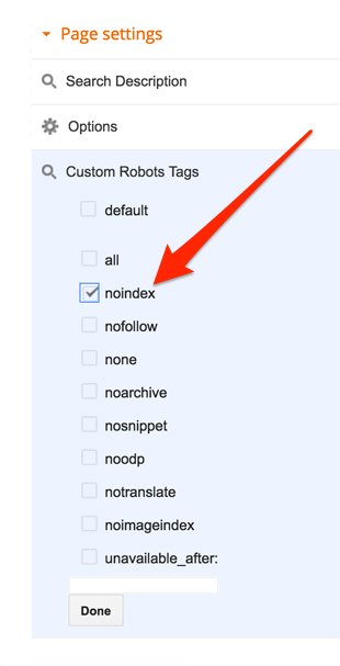 blogger-pages-custom-robots-tag-setting