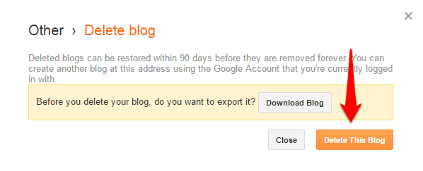 delete this blog blogspot
