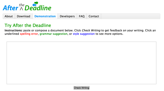 afterthedeadline apostrophe checker