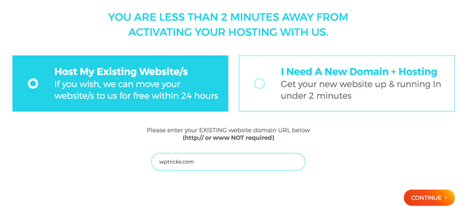 WPXHosting Host Website URL
