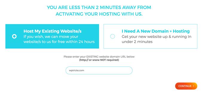 WPXHosting Host Website URL