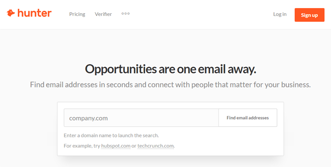 Email Hunter Chrome Extension