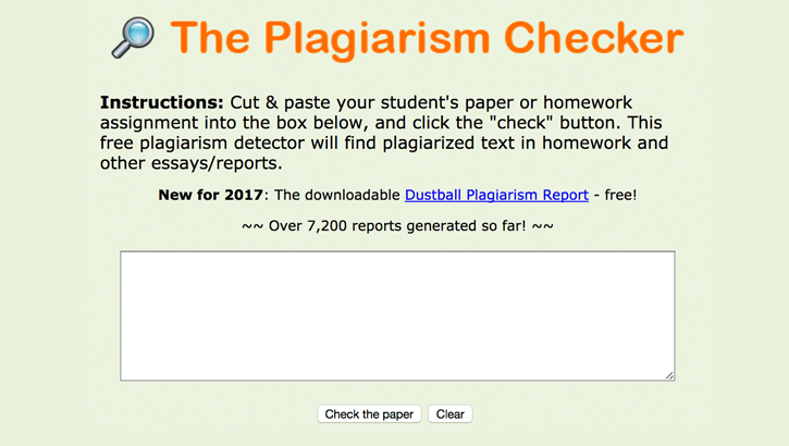 Plagiarism Checker by Dustball
