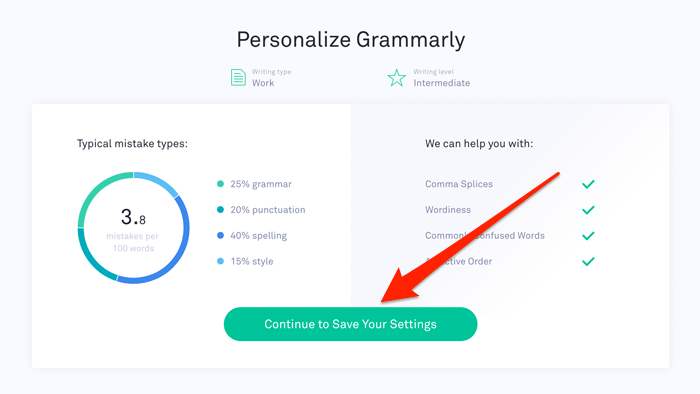 Personalize Grammarly Settings