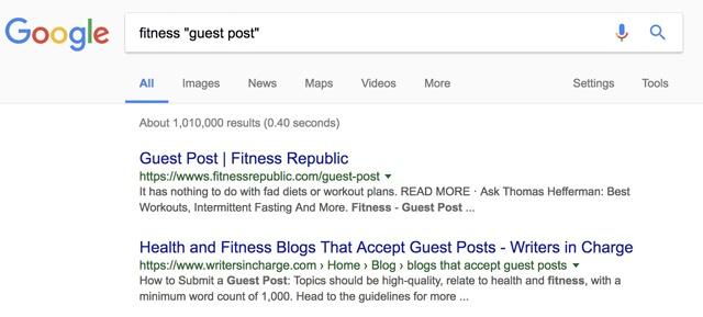 Guest blogging link building