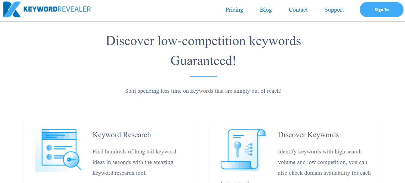 Keyword Revealer Long Tail Keyword Tool