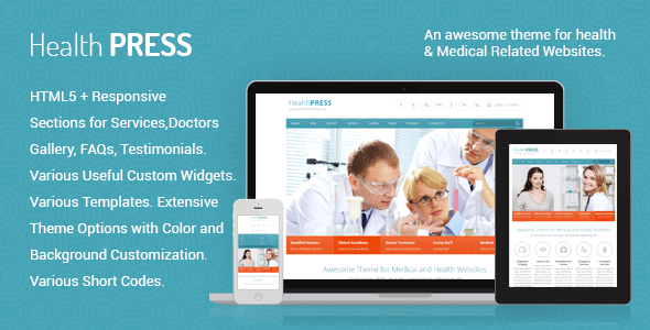 HealthPress Health and Medical WordPress Theme