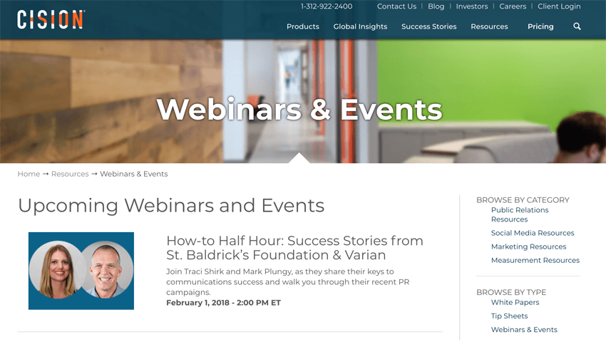 Cision Webinars and Events