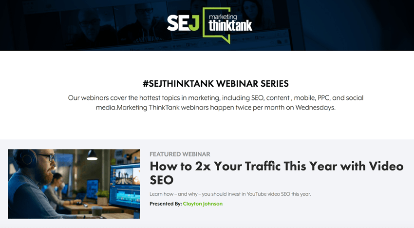 Search Engine Journal Webinars