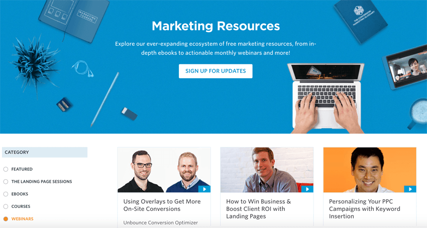 Unbounce Marketing Resources