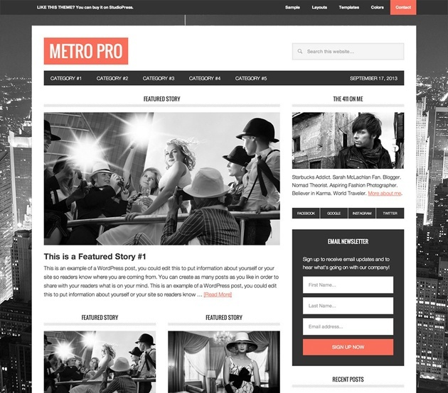 metro pro wordpress genesis theme