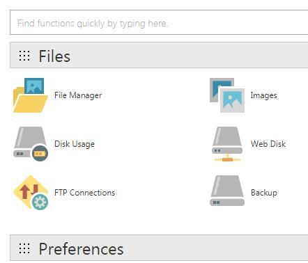 WordPress cPanel File Manager